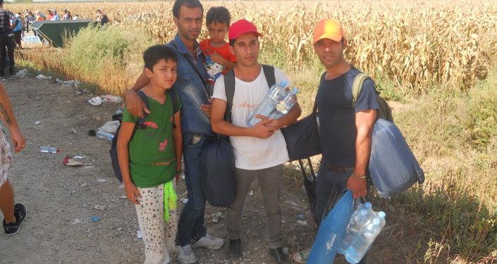 Migranti na hranici mezi Srbskem a Chorvatskem