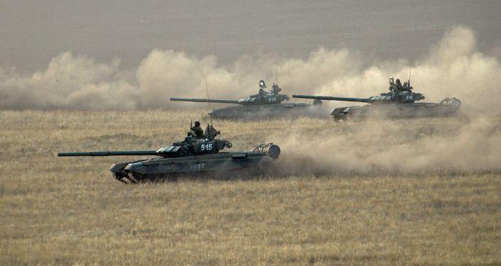 Tanky patřící ruským ozbrojeným silám