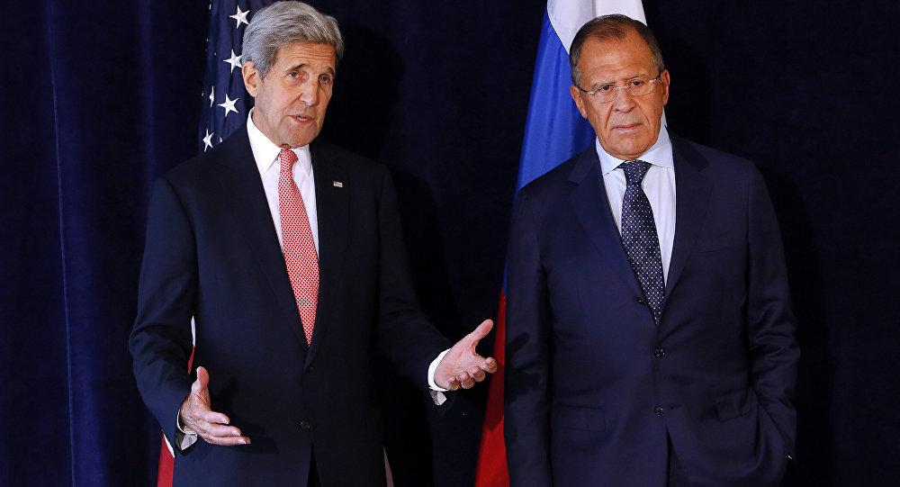 John Kerry a Sergej Lavrov v New Yorku
