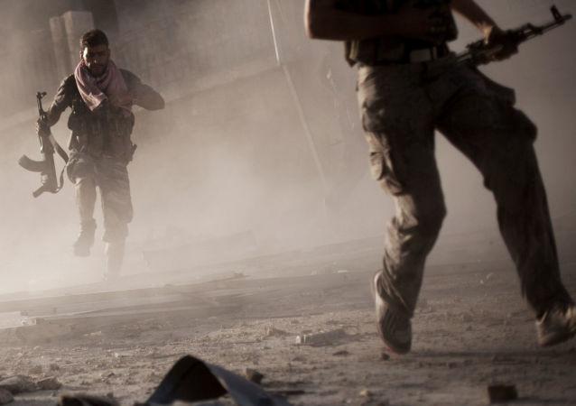 Syrští vojáci v Aleppu