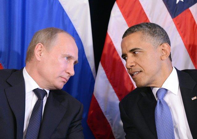 Vladimir Putin a Barack Obama
