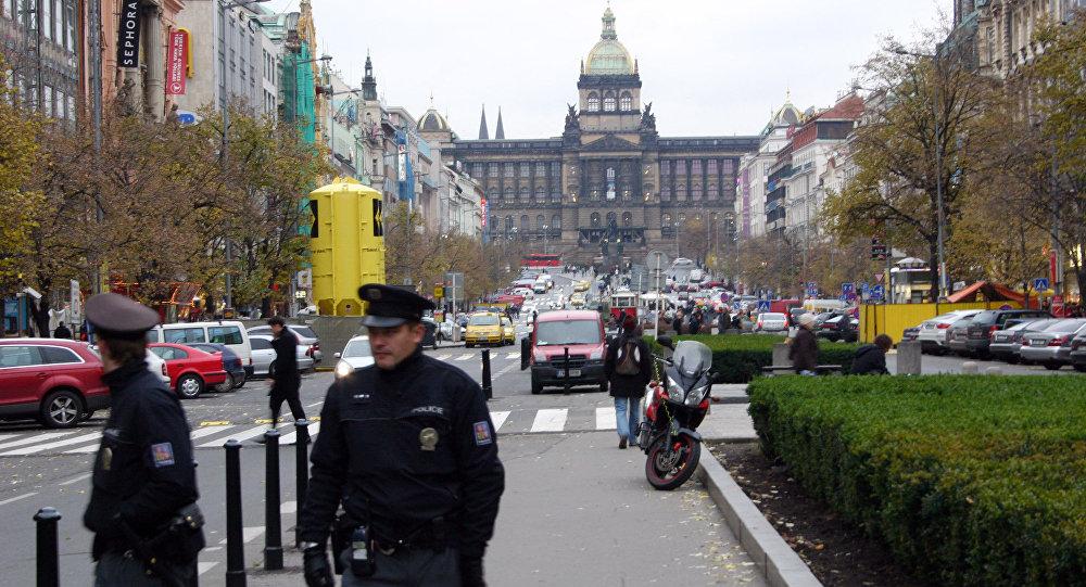 Policisté na Václavském náměstí