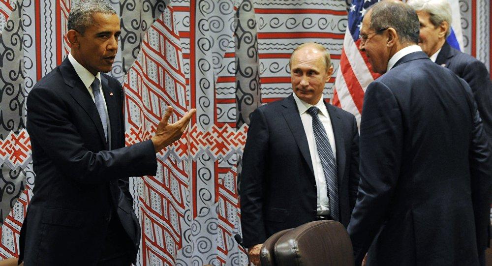 Setkání Baracka Obamy a Vladimira Putina v New Yorku