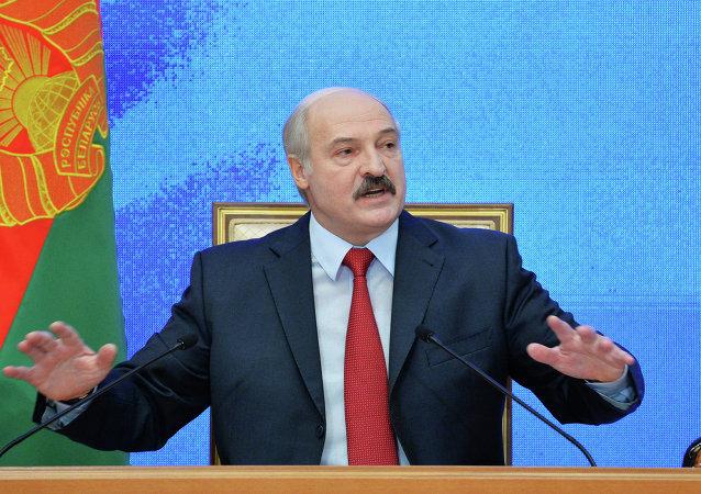 Prezident Běloruska Alexander Lukašenko