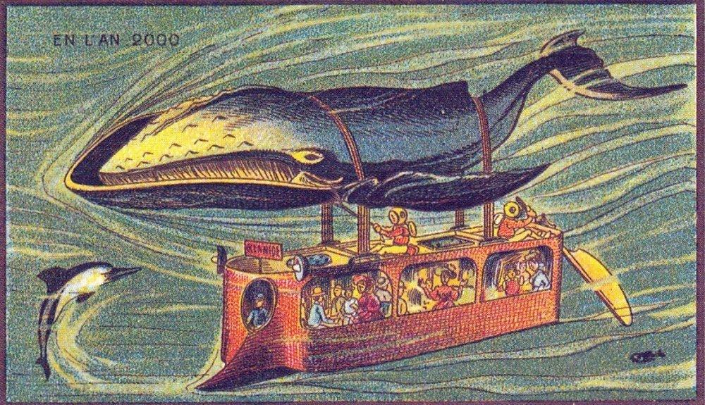A znovu mořský svět, velryba-autobus. Vypadá jako kočka-autobus z animace Mijazakiho