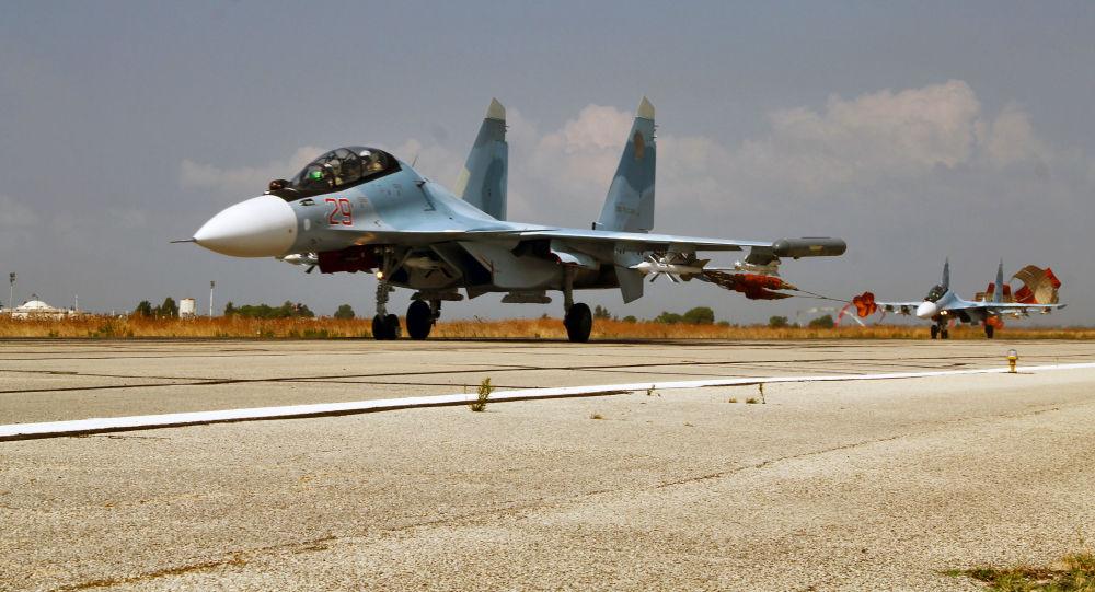 Ruská stíhačka Su-34 v Sýrii
