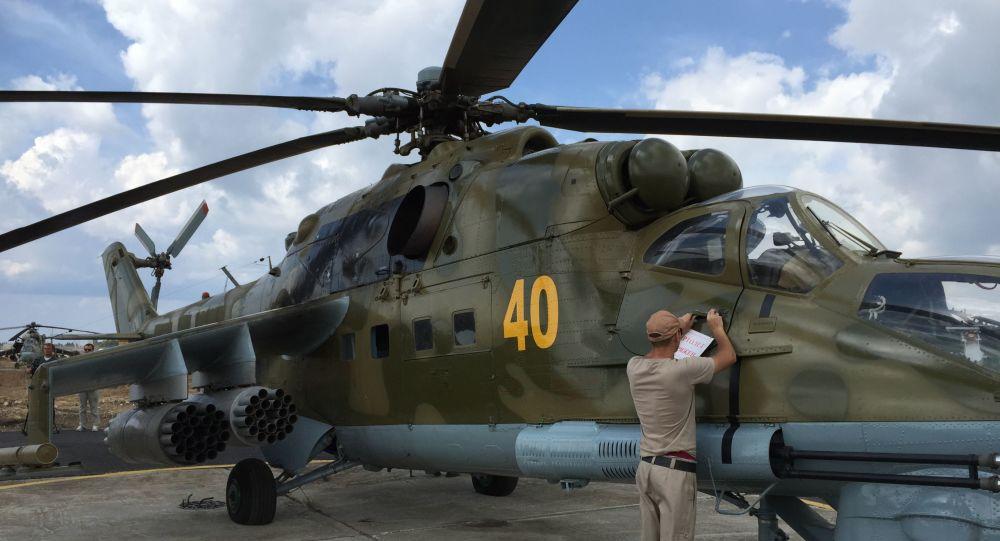 Ruský vrtulník Mi-24 v Sýrii