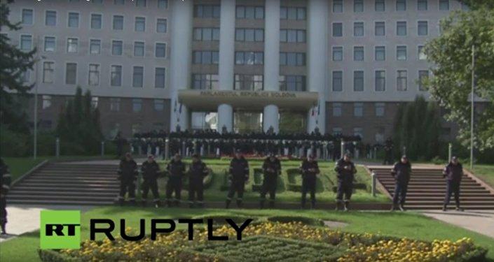 Protivládní demonstrace v Kišiněvě