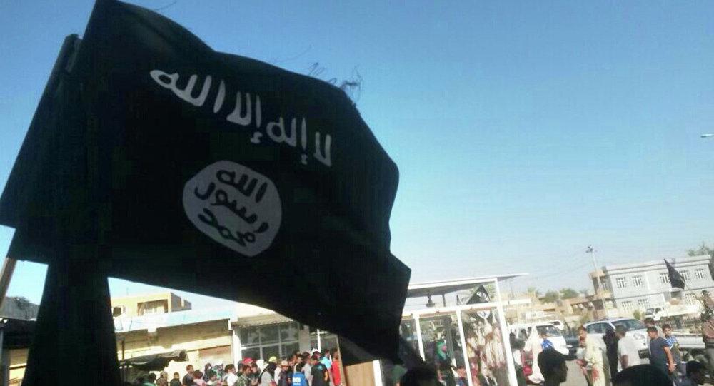 Vlajka Islámského státu. Ilustrační foto