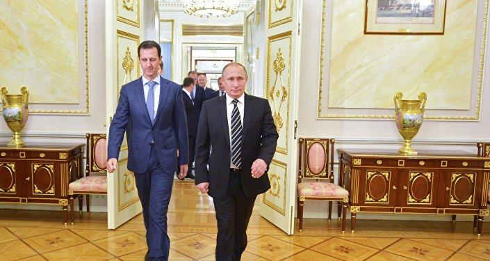 Setkání ruského prezidenta Vladimira Putina se syrským prezidentem Bašárem Asadem v Moskvě