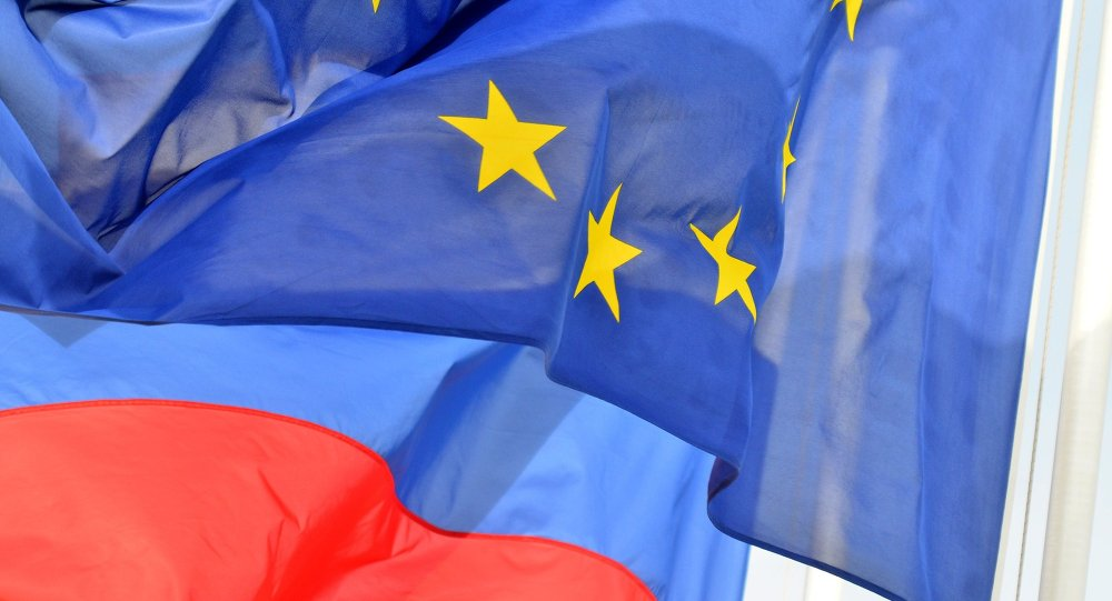 Vlajky EU a RF