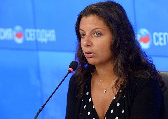 Šéfredaktorka MIA Rossia Segodnia Margarita Simoňanová
