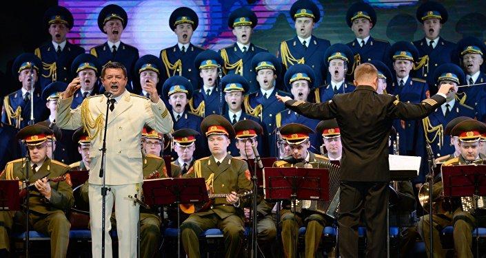 Vystoupení Akademického souboru písní a tanců Ruské armády A.V.Alexandrova v Soči