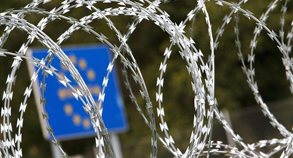 Ostnatý drát, hranice mezi Slovinskem a Maďarskem