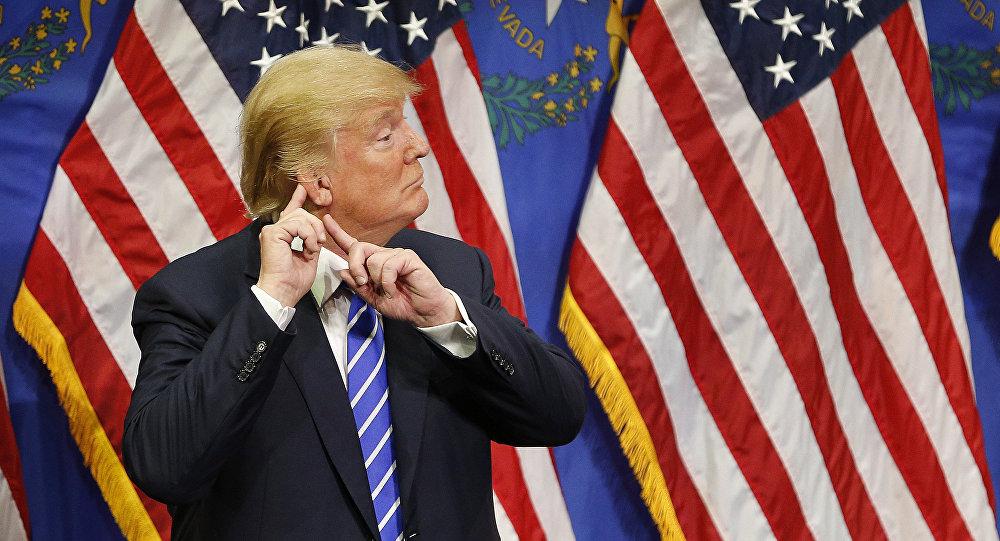 Uchazeč o post prezidenta USA za republikánskou stranu Donald Trump