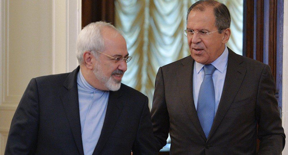 Sergej Lavrov a Džavád Zaríf