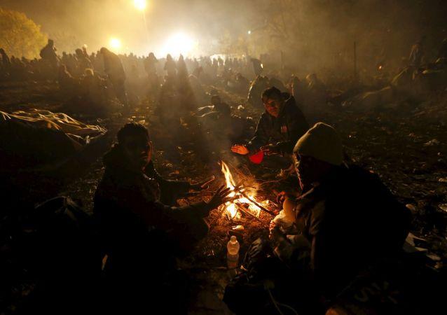 Migranti na chorvatsko-slovinské hranici.
