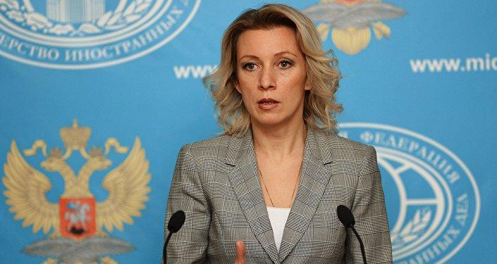Oficiální mluvčí ruského MZV Maria Zacharovová