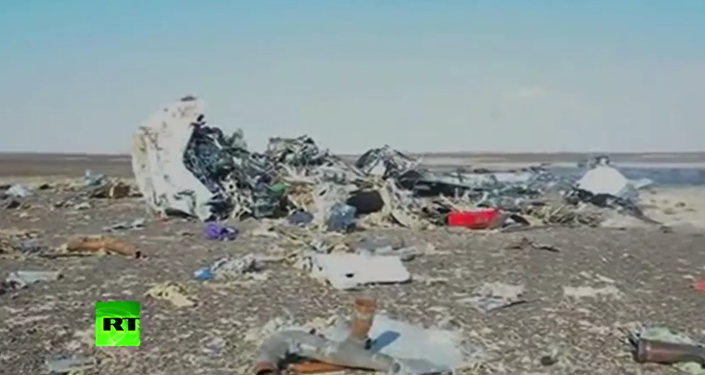 První video z místa havárie ruského A321 v Egyptě