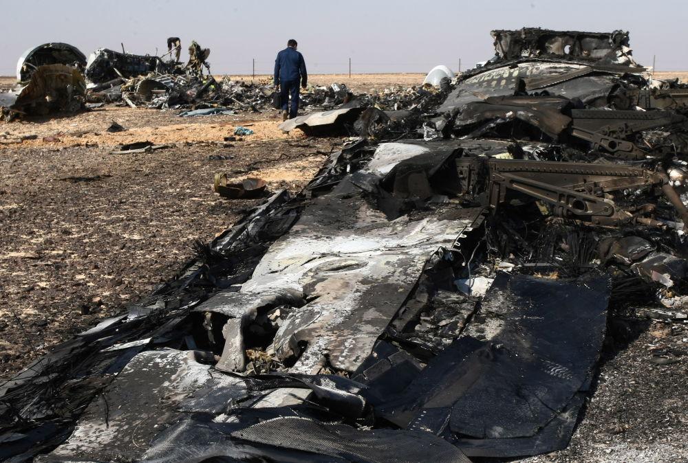Místo havárie Airbusu A321 na Sinaji