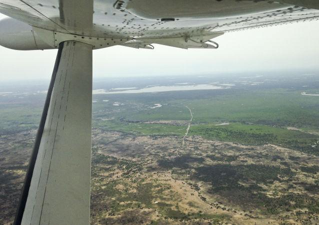 Letadlo nad Jižním Súdánem
