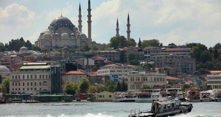 Istanbul, pohled na Bospor