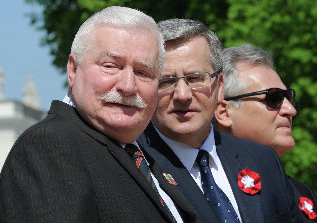 Bronisław Komorowski, Lech Wałęsa, Aleksander Kwaśniewski
