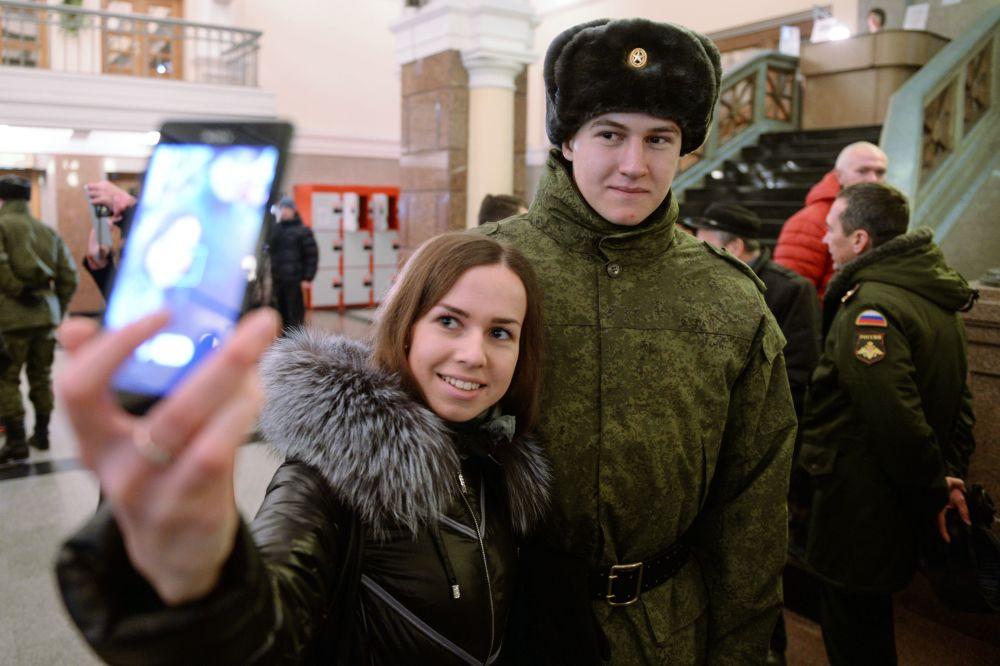 Selfie na nádraží