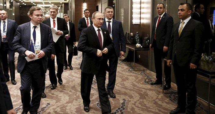 Vladimir Putin na summitu G20 v Turecku