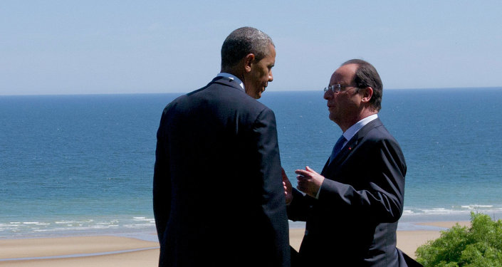 Barack Obama a François Hollande