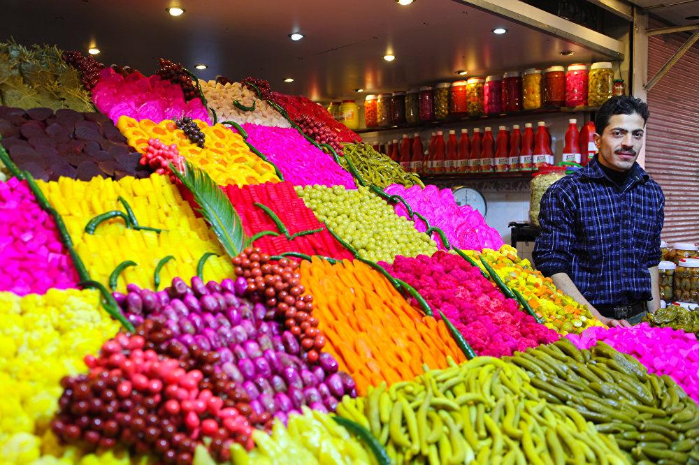 Prodejce zeleniny.