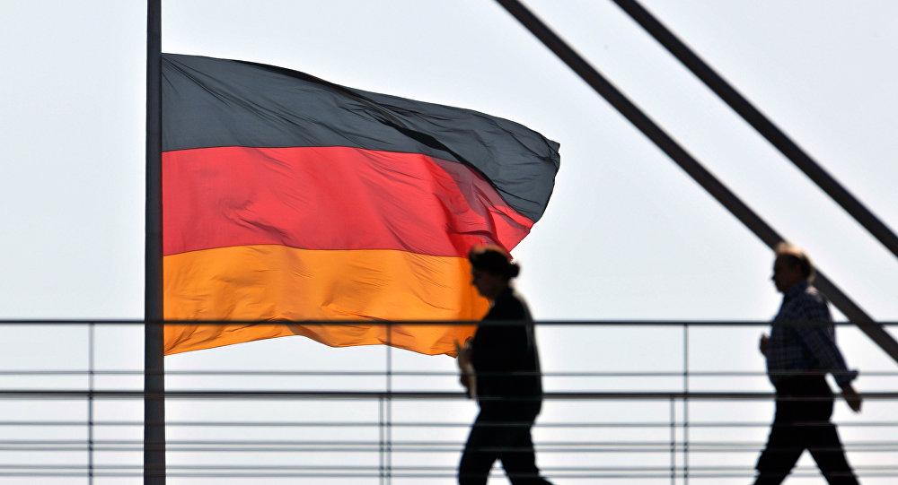 Německá vlajka. Ilustrační foto