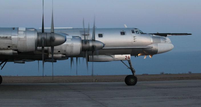 Tupolev Tu-95 je strategický čtyřmotorový turbovrtulový bombardér. Ilustrační foto
