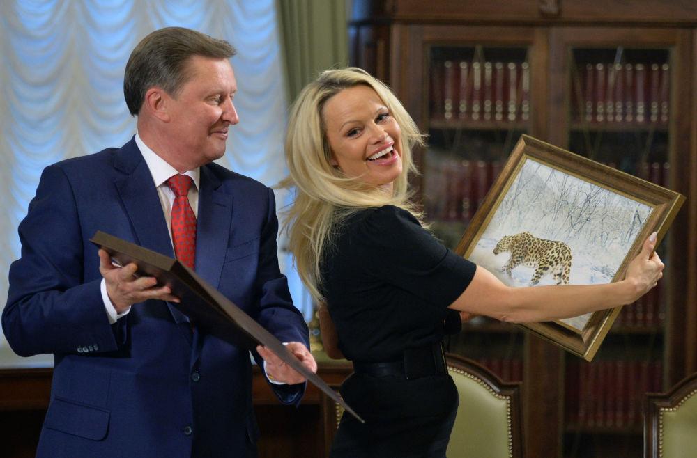 Pamela Andersonová v Moskvě