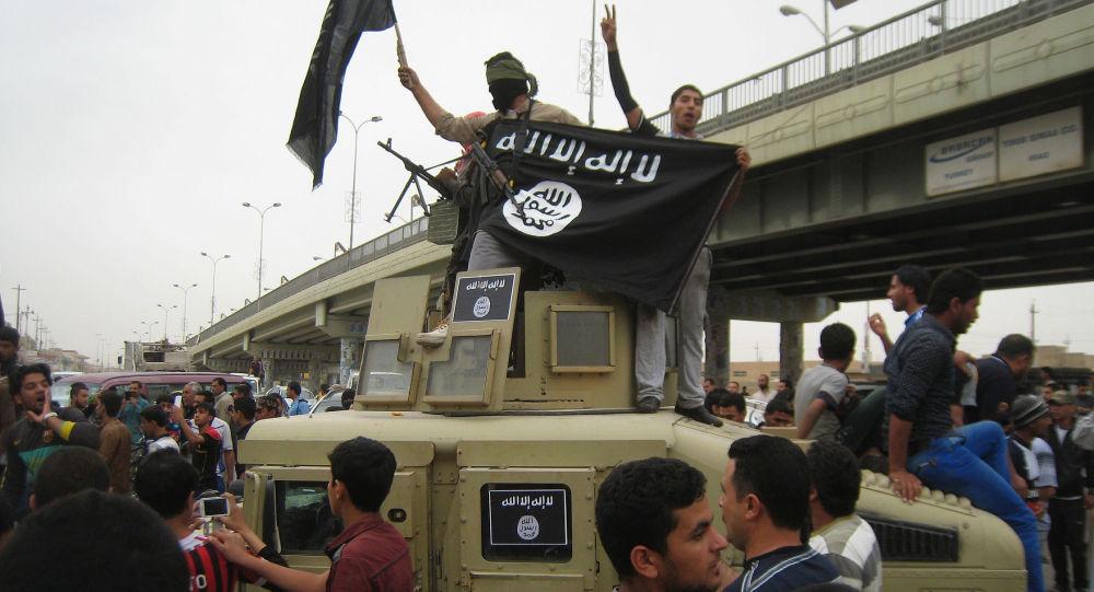Automobil, který bojovníci zabavili irácké armádě