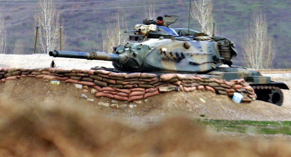 Turecký tank v Iráku