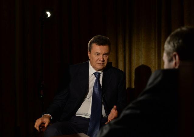 Bývalý ukrajinský prezident Viktor Janukovyč během interview pro RIA Novosti