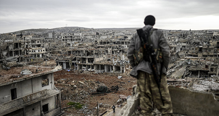 Voják v Kobani, Sýrie
