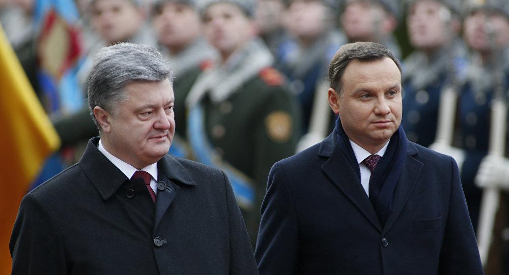 Petro Porošenko a Andrzej Duda