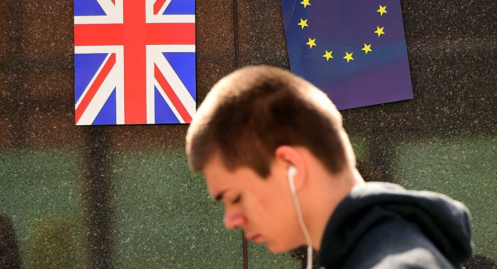 Vlajky EU a Velké Británie