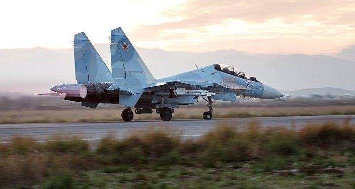 Stíhačka Su-30SM v Sýrii