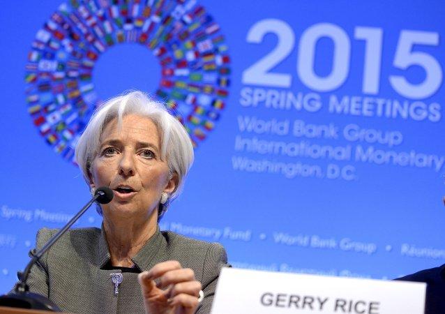 Výkonná ředitelka MMF Christine Lagardeová
