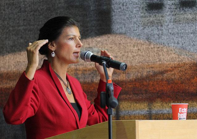 Spolupředsedkyně opoziční frakce Levice v německém Spolkovém sněmu Sahra Wagenknechtová