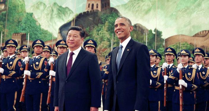 Americký prezident Barack Obama a čínský prezident Si Ťin-pching