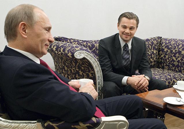 Setkání Vladimira Putina a Leonarda DiCapria v Petrohradu