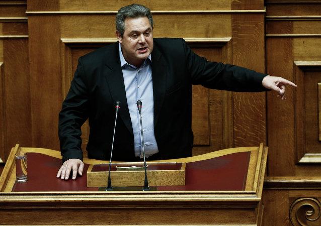 Řecký ministr obrany Panos Kammenos