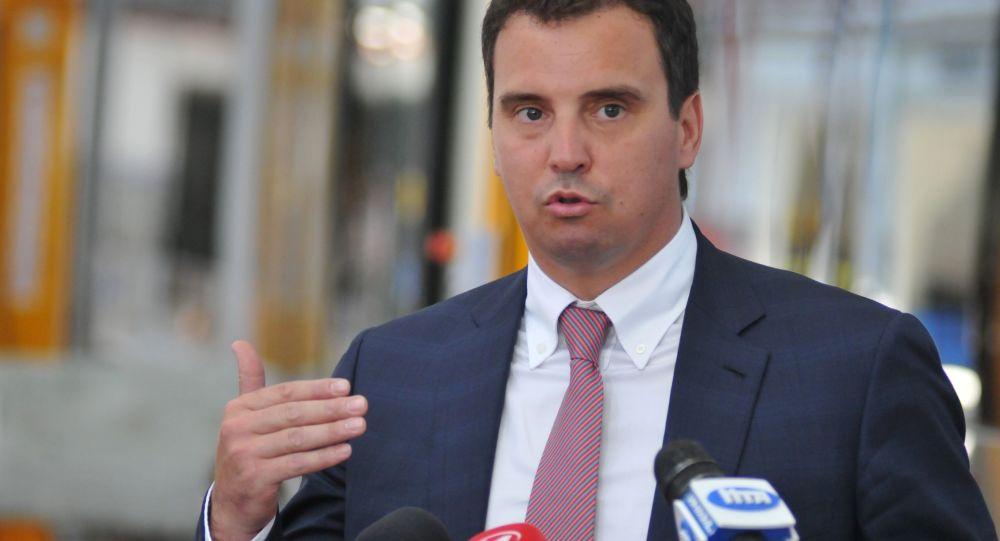 Ministr ekonomického rozvoje a obchodu Ukrajiny Ajvaras Abromavičus