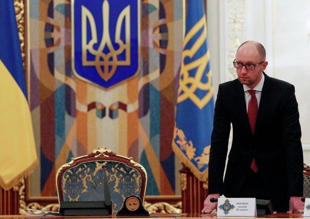 Ukrajinský premiér Arsenij Jaceňuk