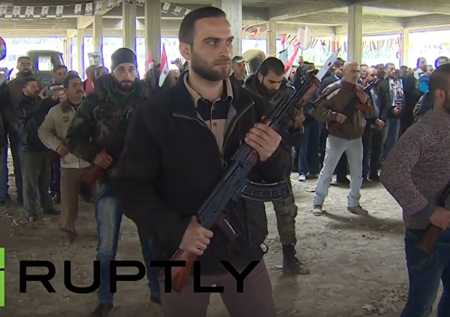 Příprava dobrovolníků v Sýrii