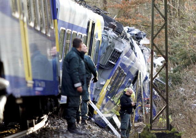 Srážka vlaků v Německu